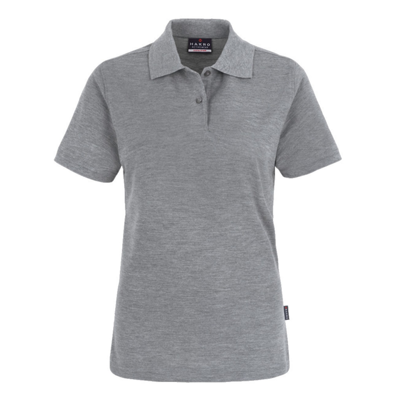 Damen Polo-Shirt Top grau