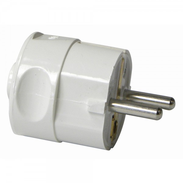 Schukostecker PVC 2polig