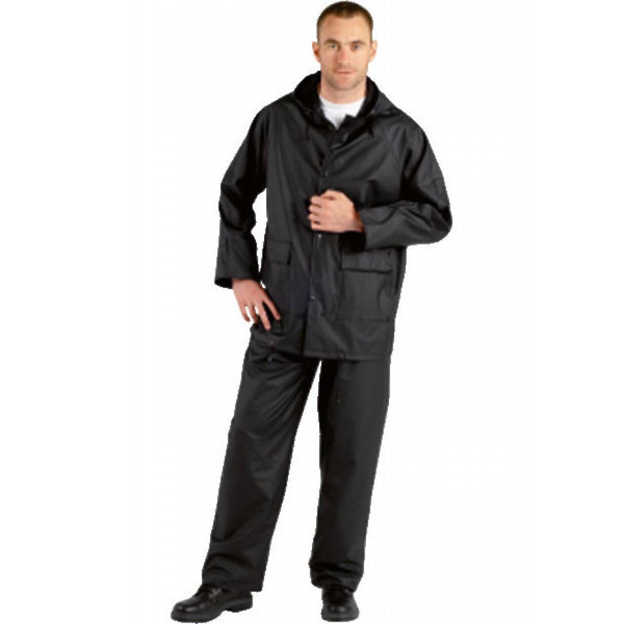 Regenschutzbundhose PU-Stretch schwarz