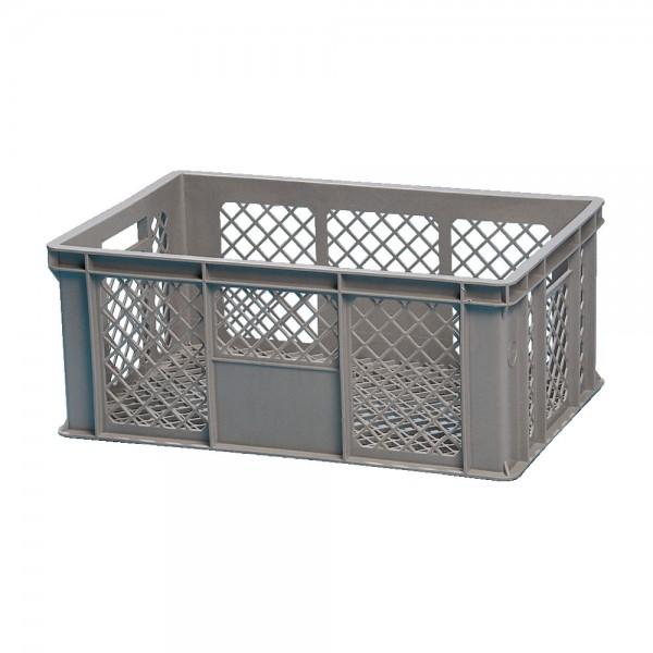 Normkiste grau mit Gitterwänden
