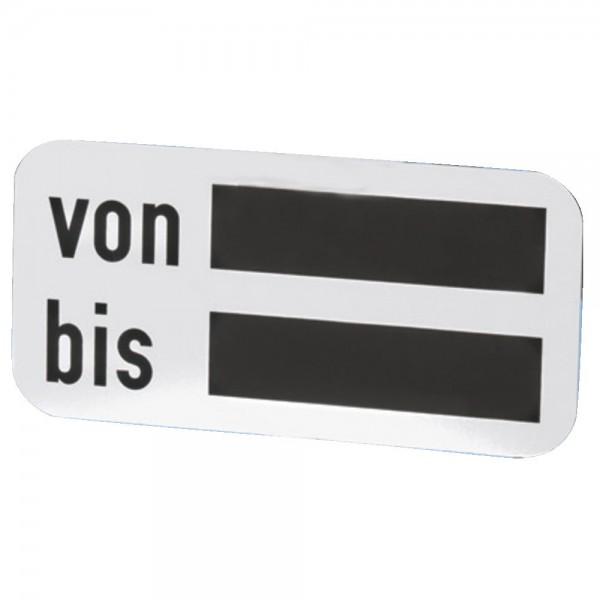 """Zusatzschild """"von-bis"""""""