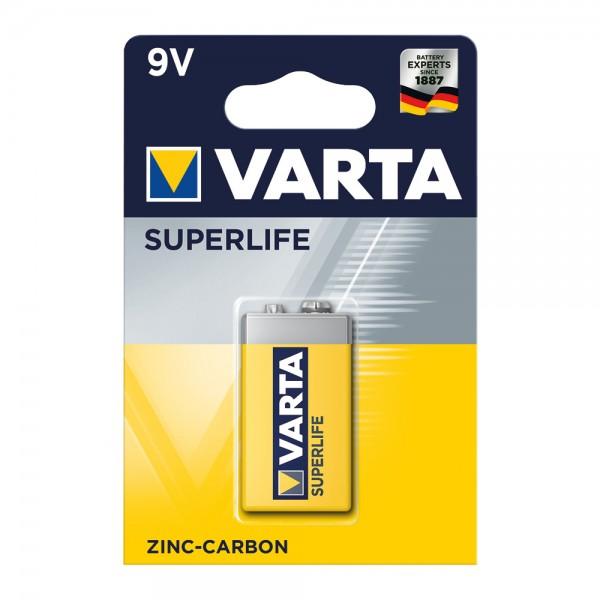 Superlife Zink-Kohle Batterie 9V-Block