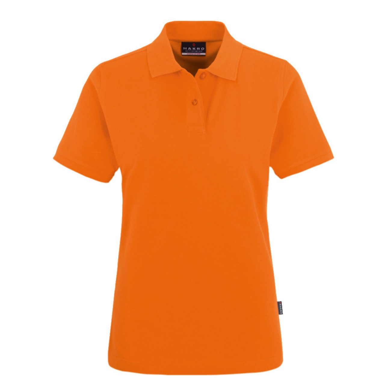 Damen Polo-Shirt Top orange