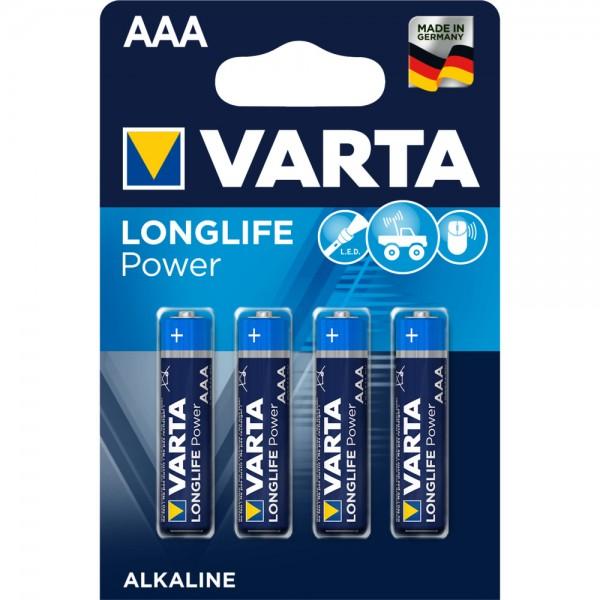 Longlife POWER AAA, 4 Stück – Leistungsstarke Energie