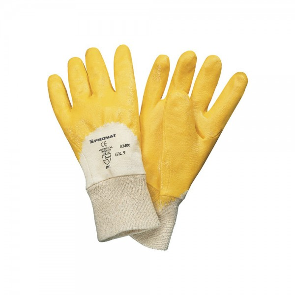 Arbeitsandschuh Lippe gelb Nitrilbeschichtung EN 388 Kategorie II Gr.10