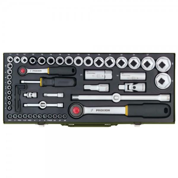 Stecknusskassette Proxxon, 56-tlg. Komplettsatz