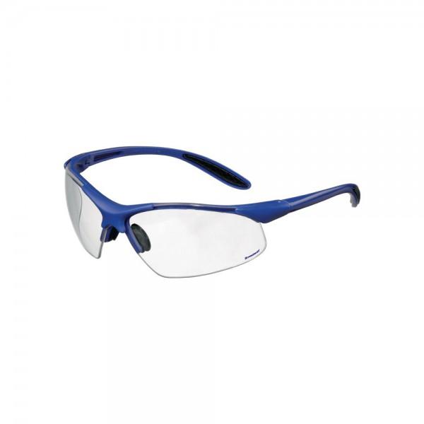 Schutzbrille DAYLIGHT PREMIUM EN 166 Bügel dunkelblau, Scheibe klar Polycarbonat