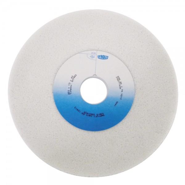 Schleifbockscheibe 250x13x40mm aus Edelkorund weiß