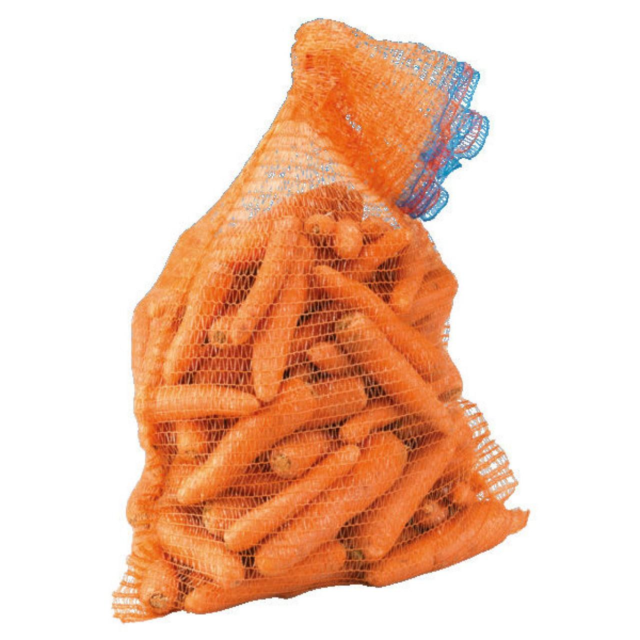 Gemüsesack mit Zugband orange